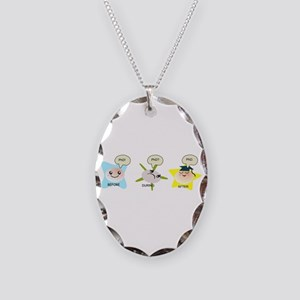 PhD student process Necklace Oval Charm